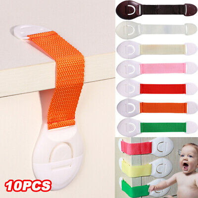 10pcs Child Kids Baby Safety Cabinet Drawer Locks Pet Proof Door Fridge Cupboard