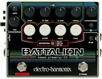 NEW Electro-Harmonix Battalion Effects Pedal Bass Preamp & DI from JAPAN