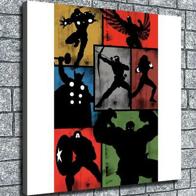"12""x12""Superhero justice league HD Canvas Home decor room Wall art"
