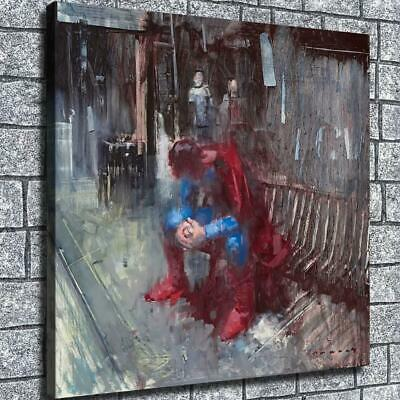 "12""x12""Abstract oil painting superman HD Canvas Home decor room Wall art poster"