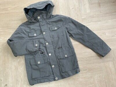 NEXT grey shower proof hooded jacket/coat, Age 12, VGC