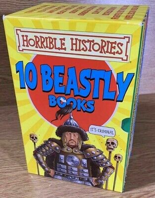 Horrible Histories 10 Beastly books Box Set by Terry Deary Paperback