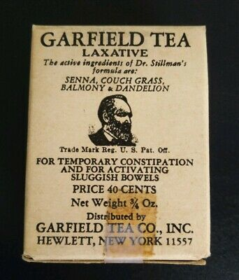 Vintage Quack Medicine GARFIELD TEA Hewlett New York