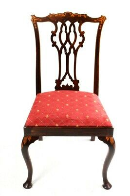 A Quality Edwardian Mahogany Chippendale Style Chair [5697]