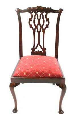 A Quality Edwardian Mahogany Chippendale Style Chair [5697 A]