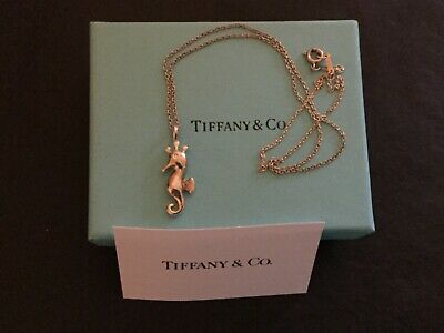 Tiffany & Co. Sterling Silver Seahorse Elsa Peretti Necklace 17""
