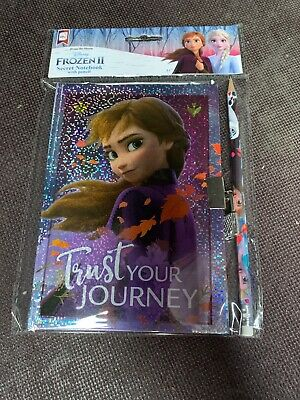 Disney Frozen 2 - Anna Secret Notebook Diary with lock and Pencil Christmas Gift
