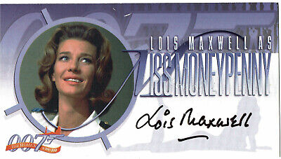 The Women of James Bond Autograph Card A2 Lois Maxwell Miss Moneypenny Inkworks