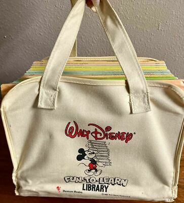 Walt Disney Fun To Learn Library 1982 Complete Set 19 Books Bantam Mickey Mouse