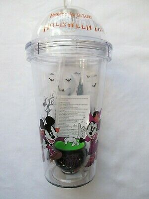 Mickey's Not So Scary Halloween Party 2019 Disney Parks Tumbler Cup Cauldron NWT