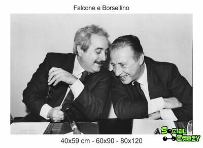 Stampa su Tela Canvas 100% QUALITà ITALIA - FALCONE E BORSELLINO