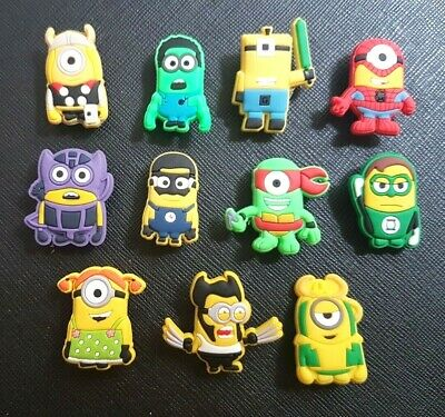 11 x Avengers Minions Shoe Charms Made For Croc shoes Crocs Jibbitz Charm