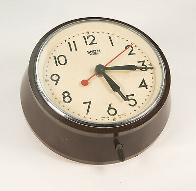 Vintage Bakelite Smith Sectric Electric Wall Clock
