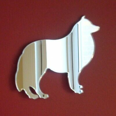Collie Dog Shaped Mirrors (Shatterproof Safety Acrylic Mirrors, Several Sizes)