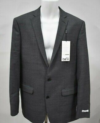 BAR III Slim Fit Size 40L Grey Blazer