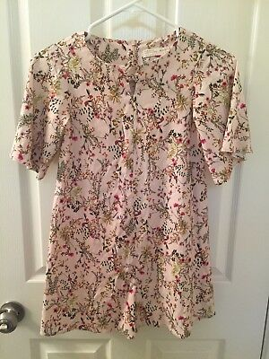 Zara Girls Casual Collection Pink Floral Romper One Piece Shorts Size 9-10