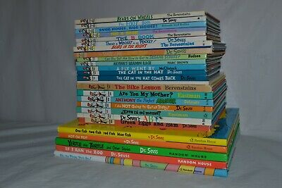 Lot 26 Dr Seuss Beginner Bright Early Learning Library Books Collector Oversized