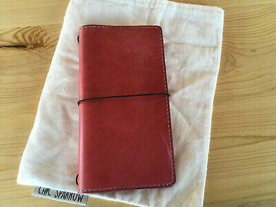 Chic Sparrow Hobonchi Weeks Leather Notebook in Pink