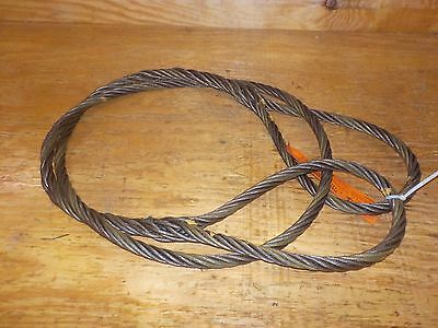 Mazzella Hand Taper and Concealed Wire Rope Sling, Eye-and-Eye, 6 x 37 OPEN BOX