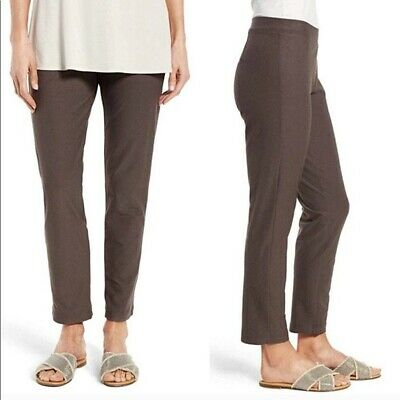 EILEEN FISHER Brown Crepe Stretch Pullon Pants XL