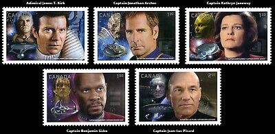 CANADA - 2983a-e - (Star Trek 2017) From Prestige Booklet set of 5