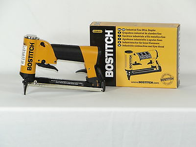 "Upholstery stapler, Bostitch 21697B air staple gun, 3/16"" crown, 21ga"