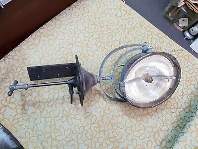 Pre Ww2 Antique Vintage Brass Ship Spotlight Search Light