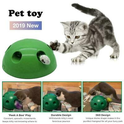 """Pop N"""" Play Interactive Motion Cat Toy Mouse Tease Electronic Pet Toys Fun TOYS"""