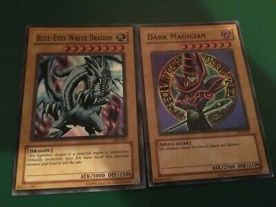 Yugioh Blue Eyes White Dragon + Dark Magician Ultra Rare 2 Card Set SYE and SKE
