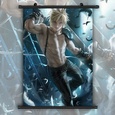 Final Fantasy VII Cloud HD Canvas Print Wall Poster Scroll Room Decor