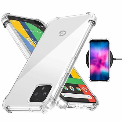 Clear Shockproof Thin Slim Case Cover for Google Pixel 4 / Pixel 4 XL