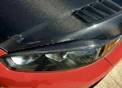Headlight Eyebrows Eyelids Lid Cover Carbon Fiber For Ford Fiesta Facelift MK7.5