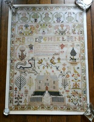 Fitzwilliam Museum Cambridge Antique Samplers 6 Posters/Wrapping Paper 50cm x 80