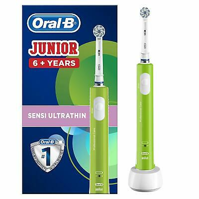Oral-B Junior Kids Electric Toothbrush for Children (6+), Green - NEW