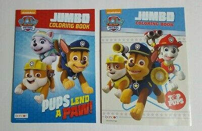 Paw Patrol Jumbo Coloring and Activity Books  (Top Pups & Pups Lend a Paw)