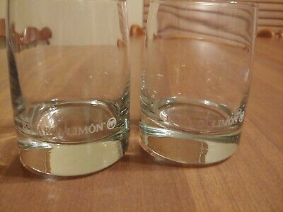 2 Bacardi Limon Whiskey Glasses