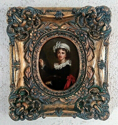 Antique Oil Painting After French Painter Vigee Le Brun Self Portrait Art Framed
