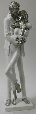Loves Embrace Romantic Couple Figurine Abstract Modern Artwork Large Statue SALE