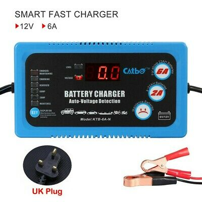 6V 12V Intelligent Car Motorcycle Battery Charger Automatic Power Charging Tool