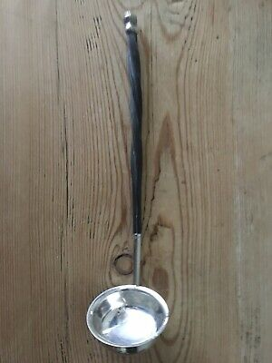 Victorian Solid Silver Toddy - Sauce Ladle, With Turned Handle, London 1874