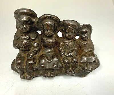 Victorian Cast Metal Children Paper Weight circa 1870