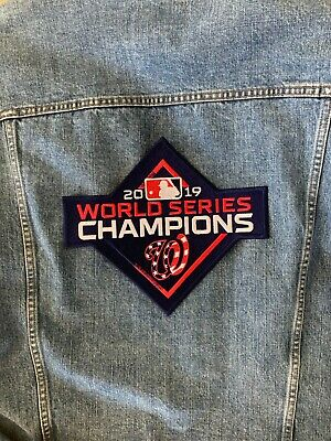 "Washington Nationals 10"" Jacket Patch 2019 Mlb World Series Champion Embroidered"