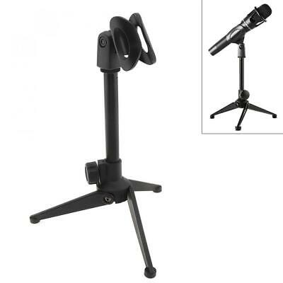 Telescopic Boom Microphone Stand Adjustable Mic Holder Tripod Clip Foldable