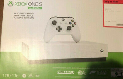 Microsoft Xbox One S 1TB All-Digital Edition Console - White ( No Game ) NEW