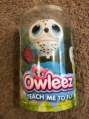 Owleez - Flying Baby Owl Interactive Toy with Lights and Sounds (White) New