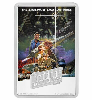Star Wars The Empire Strikes Back Poster Collection 1 oz Pure Silver Coin (2017)