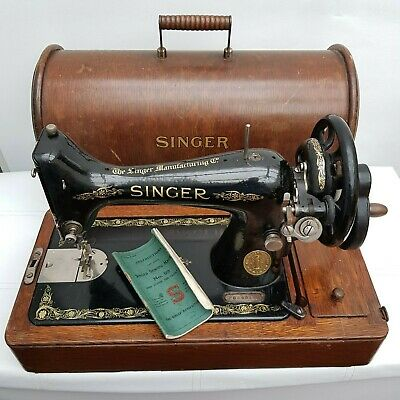 Antique Vintage Singer Sewing Machine 99K F6845199 Manual Hand Crank c.1916
