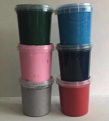 6 STUNNING COLOURS SCREEN PRINTING INK WATER BASED INK PAINT 155ml TUBS