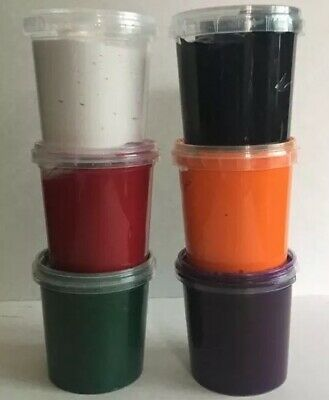 6 WINTER COLOURS SCREEN PRINTING INK WATER BASED INK PAINT 155ml TUBS