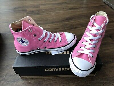 CONVERSE Chuck Taylor All-Star Hi Older Girls Trainers, Pink - Size 2